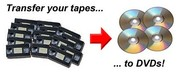 VHS Tapes Copied to DVD